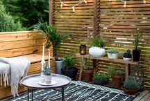 Outdoor garden walls