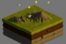 Lowpoly World / Lowpoly Inspiration