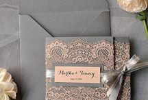 Elegant Wedding Invitations and Decorations