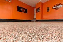 Des Moines, Council Bluff, Ankeny, IA - Concrete Resurfacing & Epoxy Flooring / The decorative concrete & epoxy flooring work of The Chase Concrete Transformations LLC - Des Moines Iowa