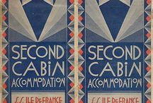 The Golden Era of Cruising 1920's-1940's / Highlights the romance and opulence of cruising during the early to mid 1900's. Introduces elements of whimsy and decadence through vintage photography while incorporating the flat design, simplified shapes and sleek, angular lettering of the Art Deco era.
