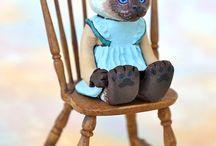 Katze Kunst Puppe