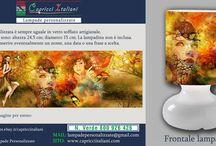 Fantasia&Fumetti / Lampade da Tavolo in vetro soffiato a bocca con l'immagine desiderata di fantasia o fumetti. E' possibile inviare la foto desiderata o scegliere tra quelle proposte. www.capricciitaliani.com