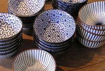 Blue-white tile and ceramics