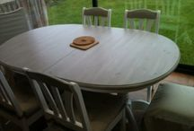 DIY - relookage Tables, Chaises, Tabourets / relooking table, chair and stool