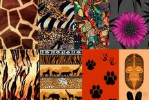 African collage sheets / art