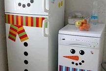 idéias para enfeitar a cozinha para o Natal