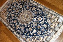 ペルシャ絨毯ナイン / 手織りペルシャ絨毯ナインシルク&ウール各サイズ