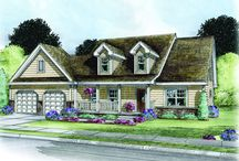 Cape Cod Home Plans / Front exterior photos and artist renderings of cape cod home designs built exclusively by Fine Line Homes.