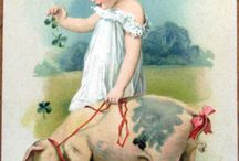 girl and pig