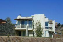 RM 2003 Santa Ynez House Santa Ynez, California 1999 - 2003 / RICHARD MEIER 2003 - The Englander/Williams Family Trust House, aka the Santa Ynez Residence, 6660 Happy Canyon, Santa Ynez CA.  The project architect was Michael Palladino.  Commissioned 1999.  166 acres.  For sale 2010-2015.