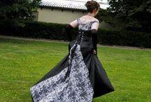 Černé svatební šaty