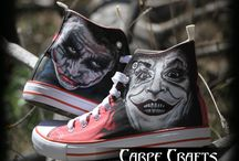 "Custom Hand Painted Vans Shoes CARPECRAFTS-ZAPAS. ""JOKER"" / Zapatillas personalizadas 100% handmade!"