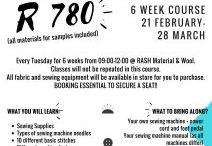 Rash sewing course