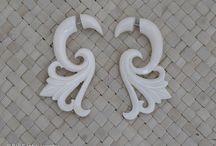Earrings Bone and Horn