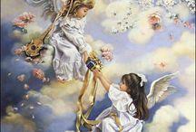 andělé, víly