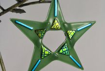 glass Christmas stars