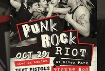 Rock Riot Consert Flyer