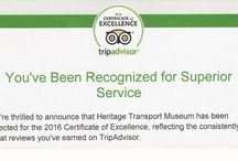 """HTM Reviews & Awards / Displays museum reviews from well known website """"Trip Advisor""""."""