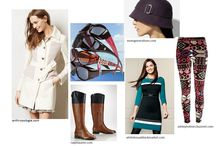 Fall Trends / Fall fashion - hats, sunglasses that fit over your prescription glasses, leggings, boots, coats and dresses.