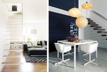 Escaleras flotantes en espacios minimalistas