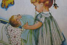 """Les Petites Mamans Et Leurs""""BéBés"""" / Jouer à la poupée, c'est sérieux!!!!  / by Marie France Martineau"""