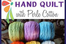 Quilting-by hand / Info about hand quilting and slow stitching.