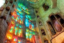 glass foil/fuse/mosaics / by Misha Miller