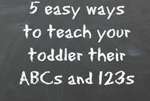 Easy ways to teach your toddler their ABC's and 123