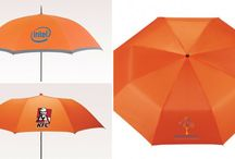 Personalized Orange Umbrellas / Retail business, beauty products, soft drink companies etc can make use of the orange umbrellas to promote their brand.