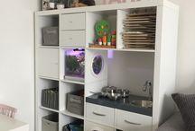 Zelf gemaakt/creatieve momentjes / Ikea kallax Ikeahack Vissenkom in boekenkast Speelgoedkast