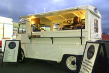 Vintage prosecco van / A prosecco van is where someone goes round in a Volkswagen camper and sells buns and of course prosecco with lots of vintage stuff going to weddings fairs country markets