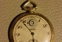 Gruen 14k gold pocket watch