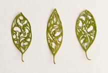hojas labradas