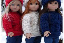 oblečky na panenky pletené