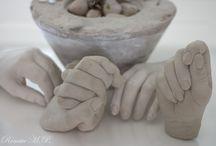 concrete - plaster - beton - gips / hands - hænder