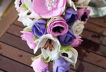 Filc kvety kytice tutorial