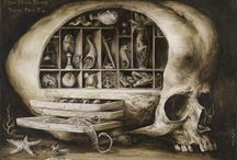 Santiago Caruso, Dark Symbolist / Santiago Caruso is a dark symbolist artist with an attraction to the surreal and macabre. His techniques ranges from tempera & ink on paper to scratched mixed media pieces on cardboard. Working in book illustration and music album art Caruso's work has a highly illustrative angle that makes viewing it an almost investigative process.