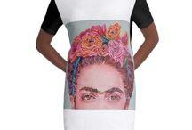 t-shirt kleid Frida Kahlo