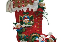 Decorated stockings / Examples of decorated Christmas stockings for work competition