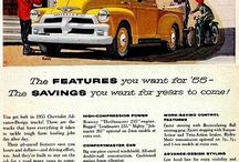'55 Chevy's / 1955 Chevrolet cars & Advertisments / by Vern Sager