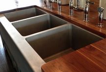 Kitchen Triple Sink / View our Triple Sink Pinterest page for design ideas for your three-bowl sink.