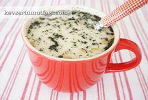 Yeşil mecmek erişte yoğurt çorbası