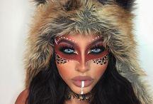 wild animal makeup