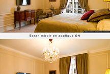Ecrans miroirs en applique