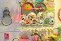 Colourful Vintage kitchen