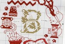 Scharen/ fournituren / naaimachine borduren