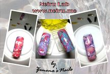 Neiru.me Lab by Zemona's Nails / Applying Japanese nail art following lessons on www.neiru.me