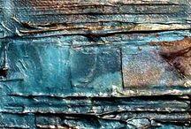 duvar metal kumaş dokuları