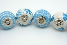 These Please stunning set of Marina Blue cupboard door knobs / A simply beautiful set of co-ordinated marina blue door knobs designed by These Please will give a unique lift to your cupboards and drawers